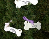 Personalized Dog Bone Ornament Dog Lovers Ornament Dogs Name Ornament