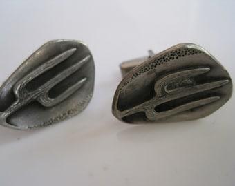 Southwestern Cuff Links - Cactus Cufflinks - Southwest Jewelry - Vintage Cuff Links