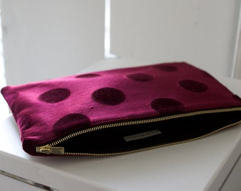 MAX Clutch - Burgundy Velvet / Gift for her / Gift for him / Accessory / Wedding accessory
