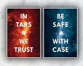 A Stellar Duo // In TARS We Trust and Be Safe with CASE // Interstellar Inspired Quote Posters // Space-themed Robot Illustration