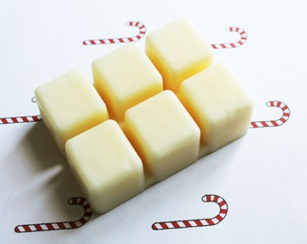 Candy Cane Scented Melts - Natural Vegan Soy Wax - Soy Candles - Soy Wax Melts - Soy Tarts