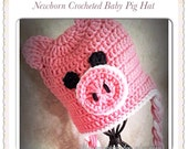 Baby Pig Hat  Made to Order