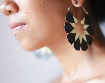 Moroccan Hoops - Big Hoop Earrings - Statement Earrings