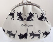 Free Shipping - Handmade Coin Purse Small Kitten
