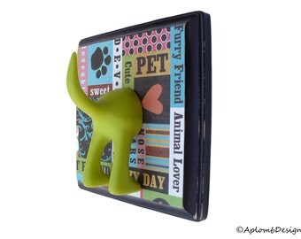 Dog Leash Holder - Animal Lover  -  Personalize it with Optional Letter Tiles