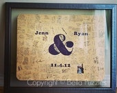 30 pc Custom Wedding Guest Book Puzzle, guestbook alternative, wedding AMPERSAND puzzle guest book, Bella Puzzles™ rustic bohemian wedding