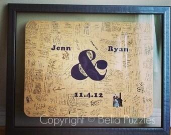 10-200 piece Wedding Guestbook Puzzle, guestbook alternative, wedding AMPERSAND puzzle guest book, Bella Puzzles™ rustic bohemian wedding