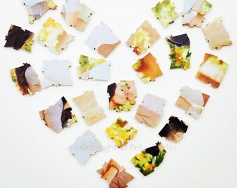 50 piece Wedding Guest Book Puzzle, guestbook alternative, wedding PHOTO puzzle guest book, Bella Puzzles™ modern wedding
