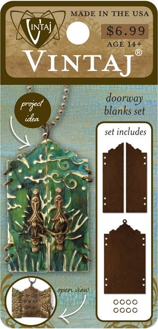 Metal stamping blanks ornate doorway blanks fairy door diy for Fairy door kits canada