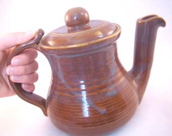 Swan Spout Iron Luster Teapot -Ceramic Handmade Pottery Art