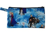 Frozen Characters Pencil Pouch // Frozen Characters Makeup Bag // Elsa, Anna // Disney