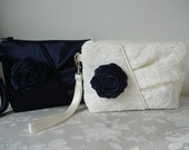 Set of Three  Bridal Party Clutch - Bridesmaids Clutch - Evening Clutch -  Made to order