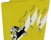 OBEDIENCE SCHOOL DROPOUT (4) Vintage Single Swap Playing Cards Paper Ephemera Scrapbook