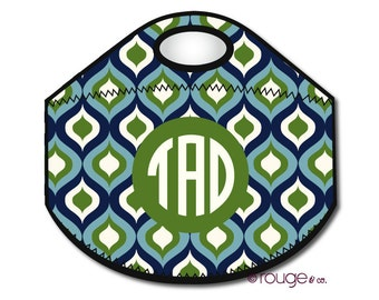 OGEE monogrammed lunch tote - with customizable pattern and monogram