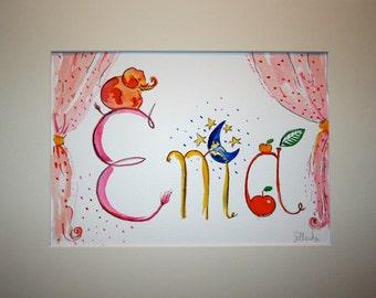 Baby-kids personalised name paintings