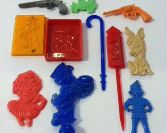 Collection of Vintage Plastic Toys