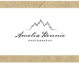 SALE Custom Logo - PreDesigned Logo - PreMade Logo - Vector Logo - OOAK Logo - AMELIA Logo Design - Mountain Logo - Sketched Logo