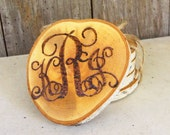 Natural Birch Coasters - Personalized with Monogram (Set of 4, 6, or 8)