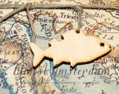 Wooden Fish Charms - Traditional - Embellishments - Invitation Decorations - Please Select Pack Size