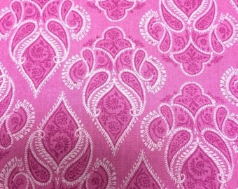 Tonal Pink Damask - Quilting Cotton - 34 inches