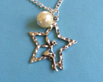 Silver Star and Angel Necklace