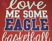 Love me some Basketball Shirt with Glitter Upgrade, Basketball Mom Shirt, Team Spirit Shirts, Basktball Shirt by The Walnut Street House