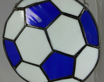 Stained Glass Football with customised Football Team Colours MTO