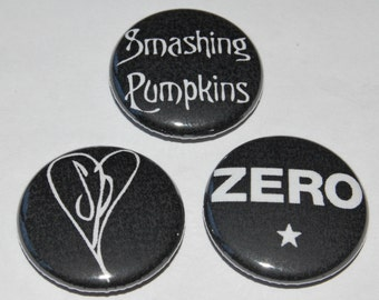 Smashing Pumpkins Button Badge 25mm / 1 inch Zero - Heart