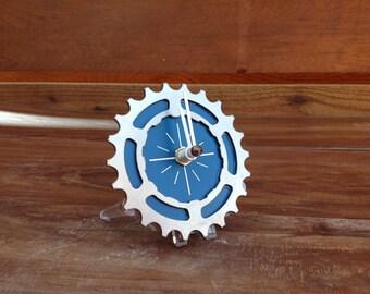 BIKE GEAR - Mini Desktop Clock: BLUE - 50% Off