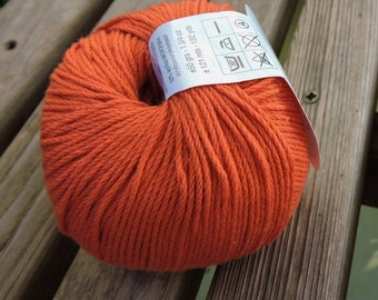 DK Weight Yarn - Cotton Blend - 50g - 132 yards -  Persian Orange (#71) - Katia Espiga (Spain)