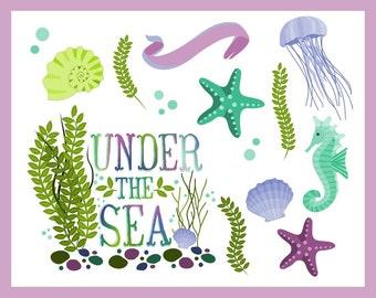 Sea Shells & Under the Sea Clip Art - Blog Graphics - Instant Download