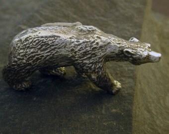 Sterling Silver Polar Bear Sculpture