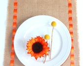 Summer Entertainment Table Runner with Orange Ribbon - New Fresh Instant Update