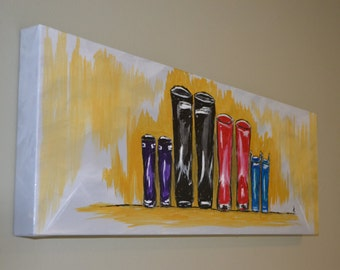 Fall in the Northwest Rain Boots Original Painting