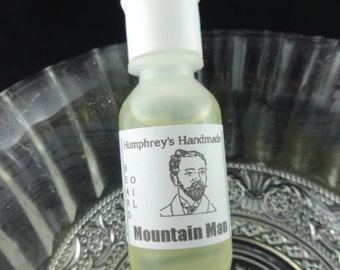 MOUNTAIN MAN Beard Oil, All Natural Beard Oil, Small .5 oz  Beard Conditioner, Apricot Kernel Oil, Essential Oils Lavender Peppermint Lime