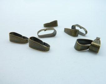 100pcs  4x11 mm Antique Bronze Iron Connector Link Claws Clasp C3290
