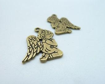 20pcs 16X24mm Antique Bronze The Girl  Angel Charm Pendant c3367