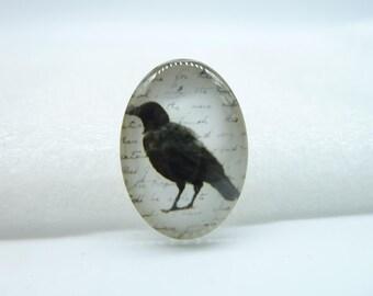 4pcs 18x25mm Handmade Photo Glass Cabochons  (Bird) GA2-25