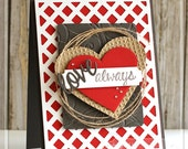 Love Always handmade Valentine card