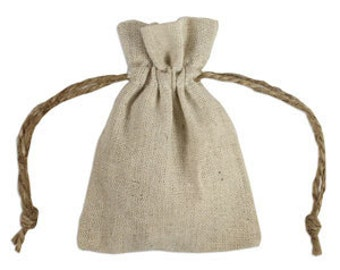 Linen Bags - 3X4 Linen Bags - 12 Natural Linen Bags - Special Occasion Bag