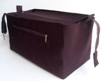 Purse organizer for Louis Vuitton Neverfull GM with Zipper closure- Bag organizer insert in Sand