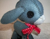 Sweet Grey Felt Donkey