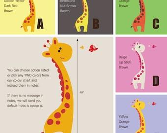 Giraffe Wall Decal - African Wall Stickers - Jungle Safari Wall Decals