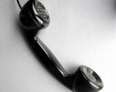 40s Black Bakelite Phone Telephone Handle Soviet Russian USSR Electronics Dial Manual Home Decor