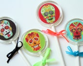 Sugar Skull Day of the Dead Lollipops 6 pieces