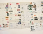 Lot of 34 Assorted First Day of Issue Stamps, USA Stamp Collection 1952 - 1964