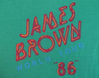 JAMES BROWN 1986 tour TSHIRT
