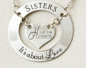 Personalized Heart Ring Necklace