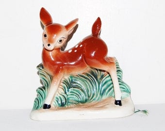 Vintage Deer with Dots Kitsch Planter 1950's