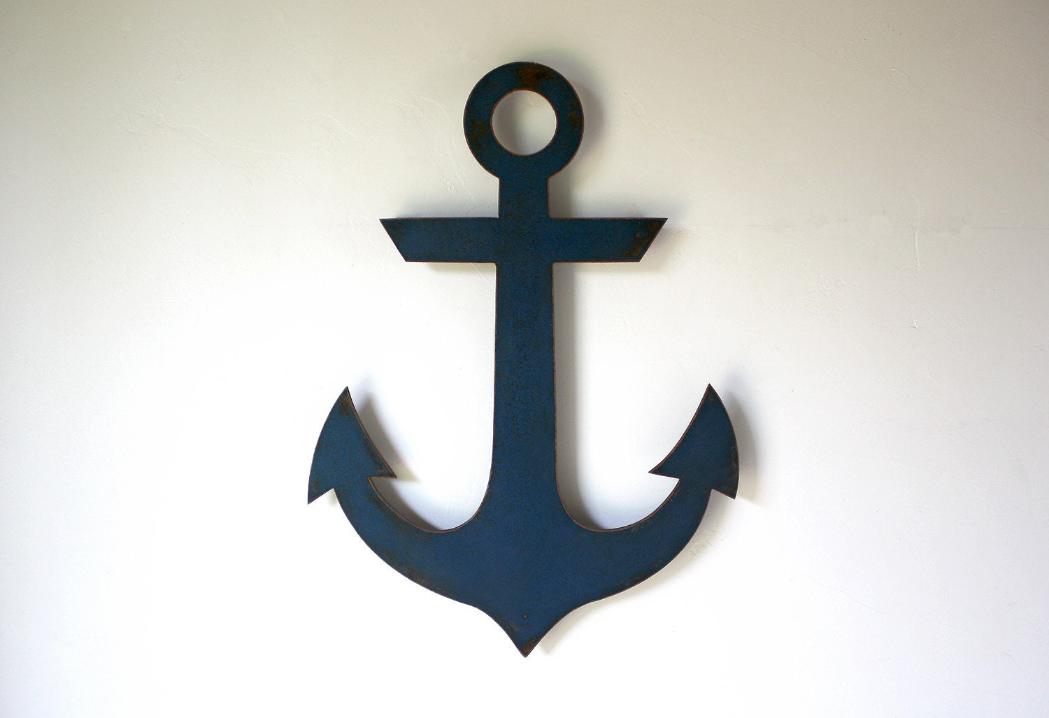 Navy Anchor Metal Wall Art 20 Tall Choose Your Color